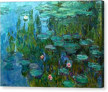 Canvas Print featuring the painting Nympheas  by Claude Monet