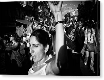 Occupy Gezi - Protests Against Turkish Government Canvas Print by Ilker Goksen