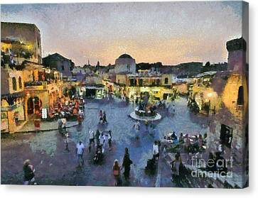 Old City Of Rhodes Canvas Print