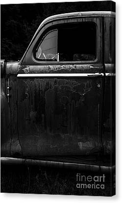 Old Junker Car Open Edition Canvas Print