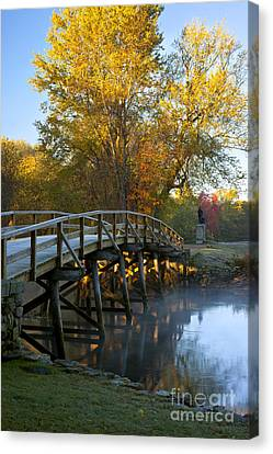 Old North Bridge Concord Canvas Print by Brian Jannsen