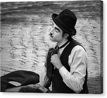 4 - Over And Through - French Mime Canvas Print by Nikolyn McDonald