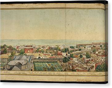 Dilli Canvas Print - Panorama Of Delhi by British Library