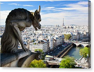 Paris Panorama France Canvas Print by Michal Bednarek
