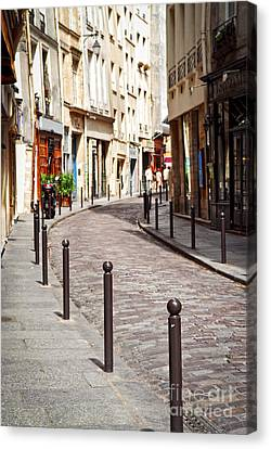 Street Canvas Print - Paris Street by Elena Elisseeva