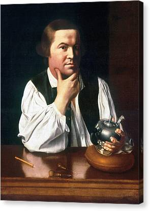 Chin On Hand Canvas Print - Paul Revere (1735-1818) by Granger