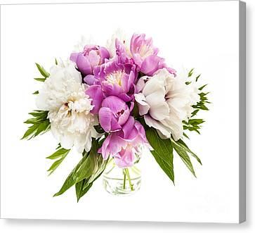 Peony Flower Bouquet Canvas Print by Elena Elisseeva