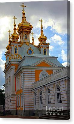 Peterhof Palace Russia Canvas Print by Sophie Vigneault