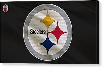 Steelers Canvas Print - Pittsburgh Steelers Uniform by Joe Hamilton