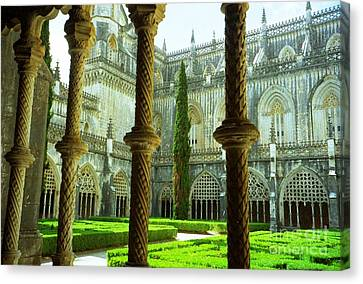 Portugal Church Canvas Print by Ted Pollard