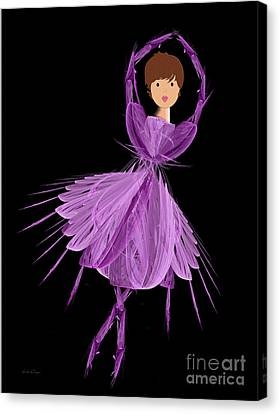 4 Purple Ballerina Canvas Print by Andee Design