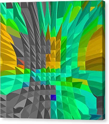 Atlantis Canvas Print - Energy-pyramids by Ramon Labusch