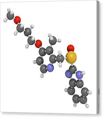 Rabeprazole Gastric Ulcer Drug Molecule Canvas Print by Molekuul
