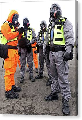 Radiation Emergency Response Workers Canvas Print