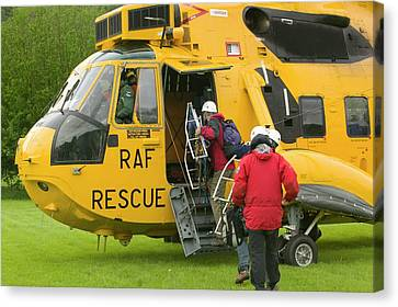 Raf Canvas Print - Raf Sea King Helicopter by Ashley Cooper