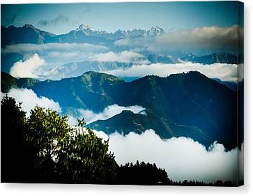 Raimond Klavins Fotografika.lv Sunrise Himalayas Mountain Nepal Canvas Print by Raimond Klavins