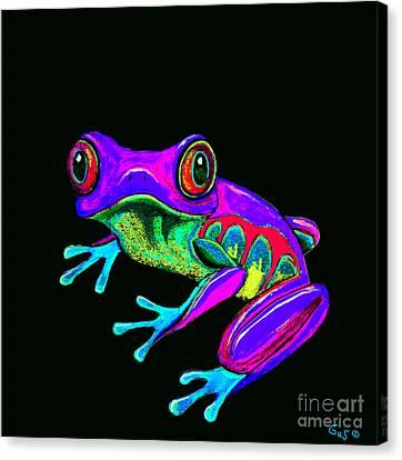Rainbow Frog Canvas Print by Nick Gustafson