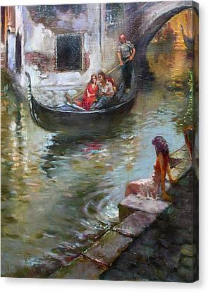 Romance In Venice  Canvas Print