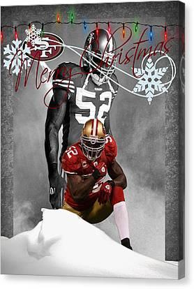 San Francisco 49ers Christmas Card Canvas Print by Joe Hamilton