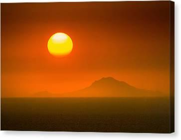 Santorini Sunset Canvas Print by Bjoern Kindler