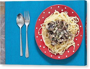 Sardines And Spaghetti Canvas Print