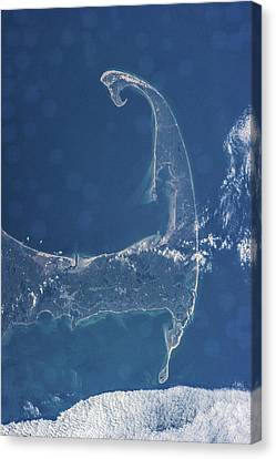 Cape Cod Bay Canvas Print - Satellite View Of Cape Cod National by Panoramic Images