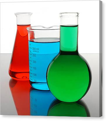 Flask Canvas Print - Science Of Color by Jim Hughes