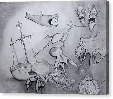 Sea Dragon Canvas Print by Dan Twyman
