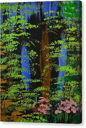 Canvas Print featuring the painting 4 Seasons Spring by P Dwain Morris