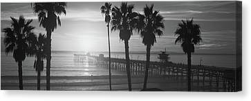 Clemente Canvas Print - Silhouette Of A Pier, San Clemente by Panoramic Images