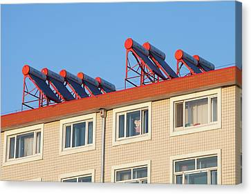 Solar Thermal Panels Canvas Print by Ashley Cooper