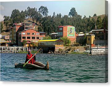 South America, Bolivia, Lake Titicaca Canvas Print by Kymri Wilt