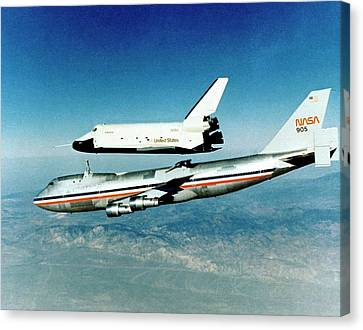 Space Shuttle Prototype Testing Canvas Print by Nasa
