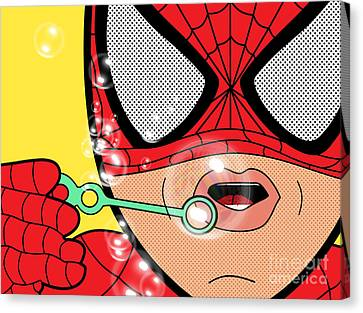 Caricature Canvas Print - Spiderman  by Mark Ashkenazi