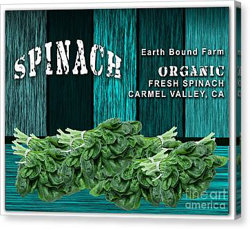 Spinach Patch Canvas Print by Marvin Blaine