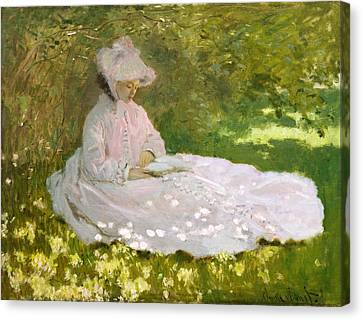 Springtime Canvas Print by Claude Monet