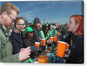 St. Patrick's Day Celebrations Canvas Print by Jim West