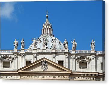 St Peter In Vatican Canvas Print by George Atsametakis
