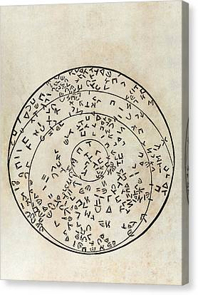 Star Map Using Hebrew Characters Canvas Print by Middle Temple Library