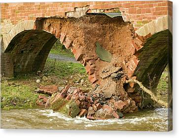 Flooding Canvas Print - Storm Damage by Ashley Cooper