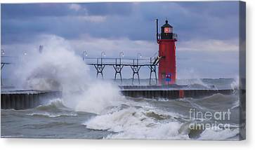 Storms At South Haven Canvas Print