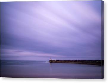 Stunning Long Exposure Landscape Lighthouse At Sunset With Calm  Canvas Print by Matthew Gibson