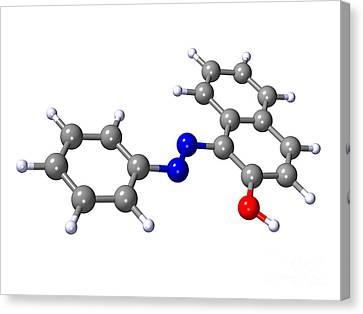 Sudan Red Canvas Print - Sudan 1 Molecule by Dr. Mark J. Winter