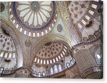 Medieval Temple Canvas Print - Sultanahmet Mosque by Brandon Bourdages
