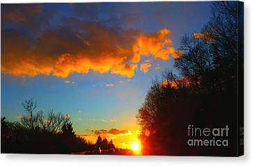 Sunset Canvas Print by Rose Wang