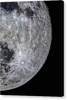 Surface Of The Moon Canvas Print