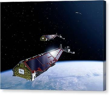 Swarm Satellites Canvas Print by P.carril/esa