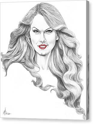 Taylor Swift Canvas Print by Murphy Elliott