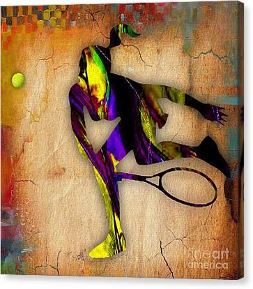 Tennis Canvas Print - Tennis by Marvin Blaine