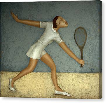 Tennis Shoe Canvas Print - Tennis by Nicolay  Reznichenko